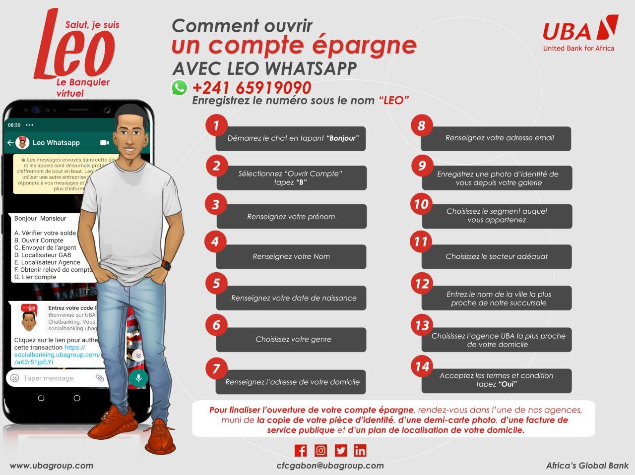 Compte épargne Leo Whatsapp
